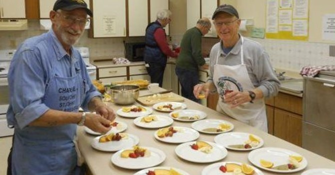 The Men's Breakfast Group Prepares for the Cookie Caper  image