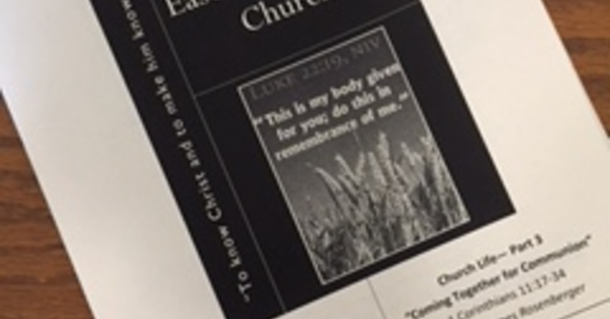 October 1, 2017 Church Bulletin image