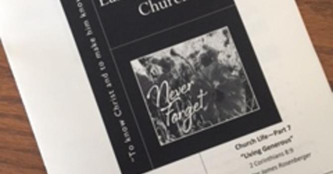 November 12, 2017 Church Bulletin image