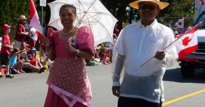 Parishioners In The Canada Day Parade image