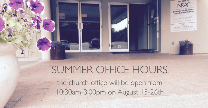 Summer Office Hours image