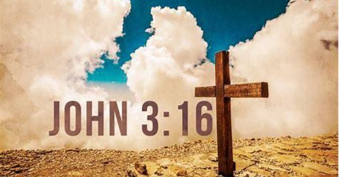 God so loved the world...