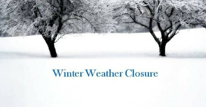 Church Office closed Tuesday, February 7th  & Meetings Cancelled image