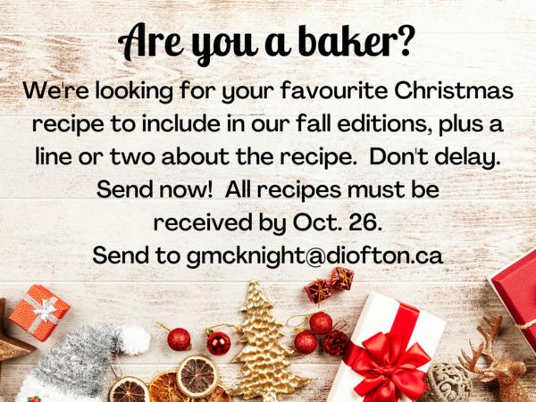 Share your favourite Christmas recipe for publication