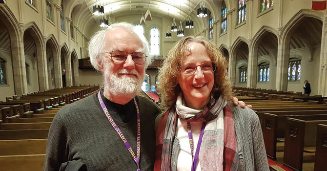 Professor Pat Dutcher-Walls and Bishop Rowan Williams in Toronto image