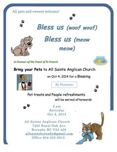 Burnaby pet blessing
