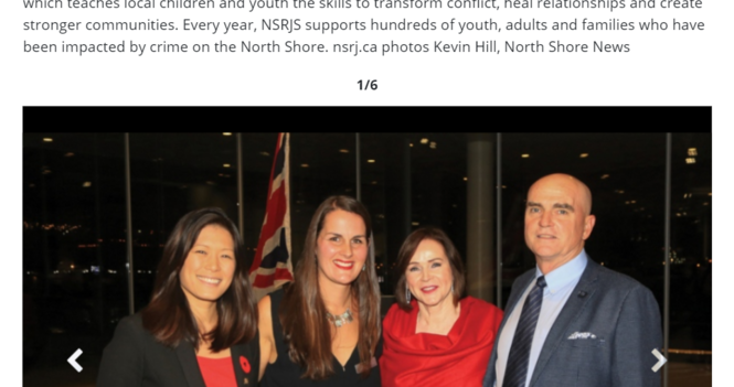 """NSRJS Fundraising Gala Featured in North Shore News """"Bright Lights"""""""