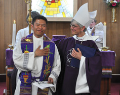 13 bishop melissa invites a welcome for the new incumvbent