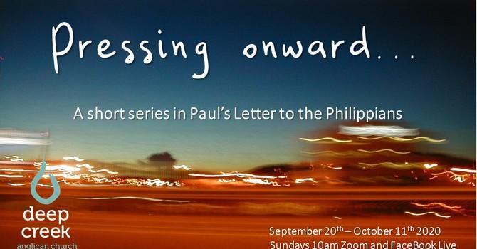 Philippians: Pressing On