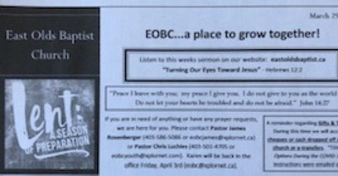 March 29, 2020 Church Bulletin image
