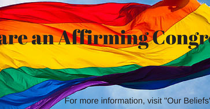 We are an Affirming Congregaton image