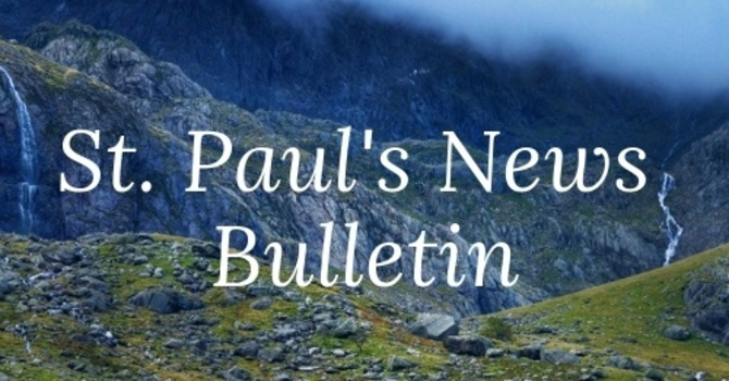 St. Paul's September 1st News Bulletin