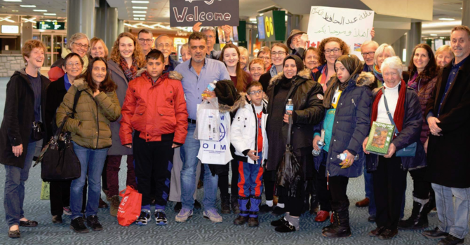 Our first refugee family has arrived! image