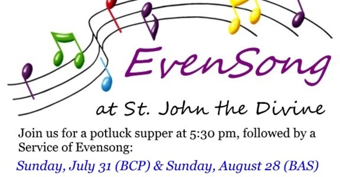 Summer Potluck and EvenSong events