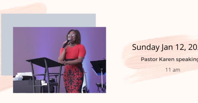 Pastor Karen speaking