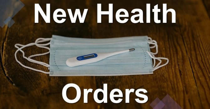 New Health Orders image
