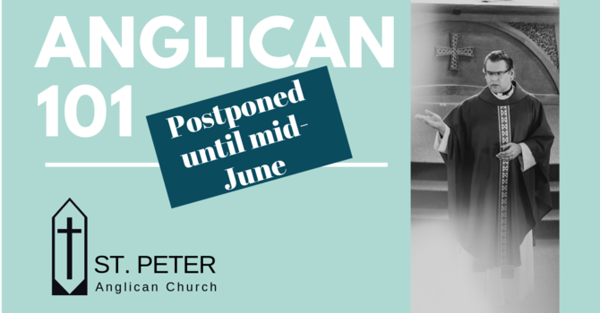 Anglican 101 - course postponed image