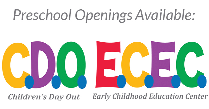 Preschool Openings Still Available image