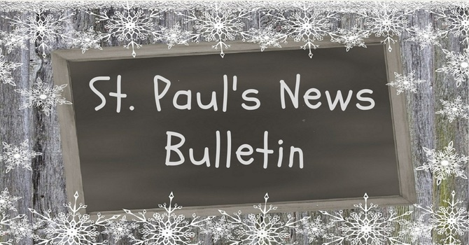 St. Paul's November 17th  News Bulletin image