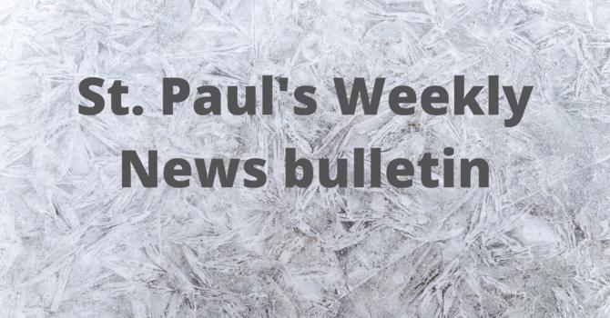 St. Paul's November 24th News Bulletin image