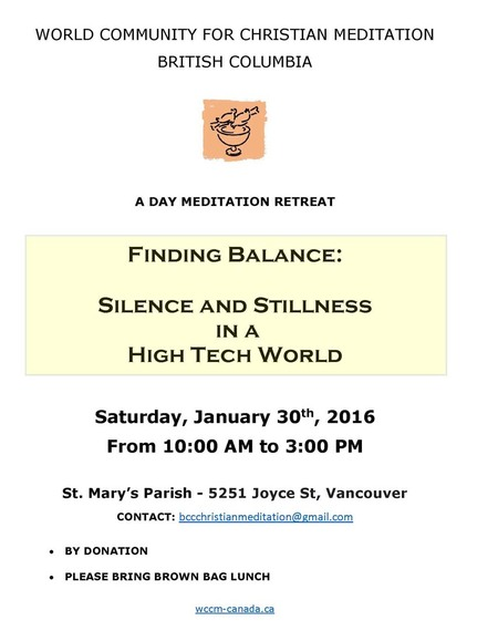 Finding Balance: Day Long Meditation Retreat