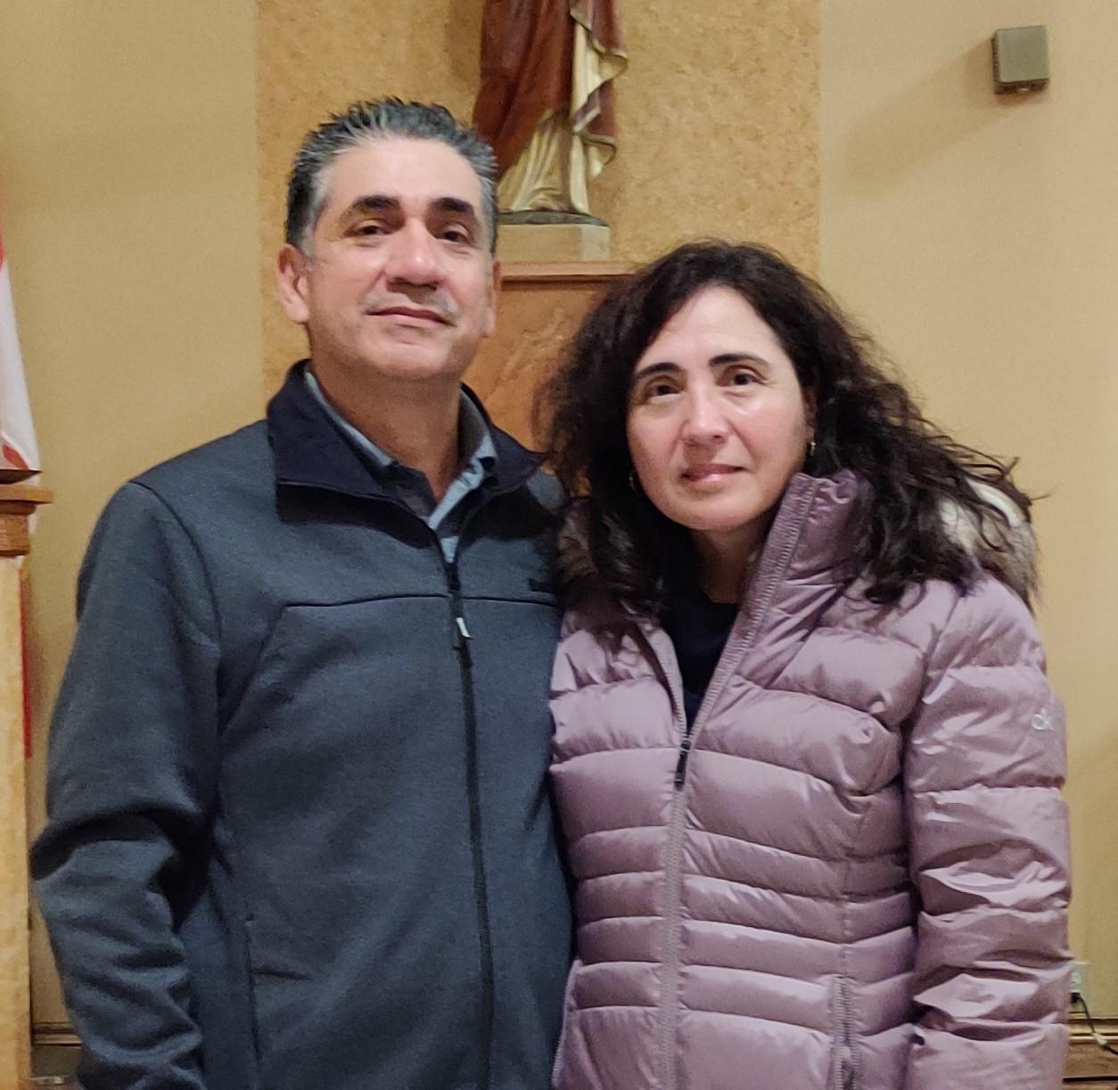 Alvaro and his wife Gaby