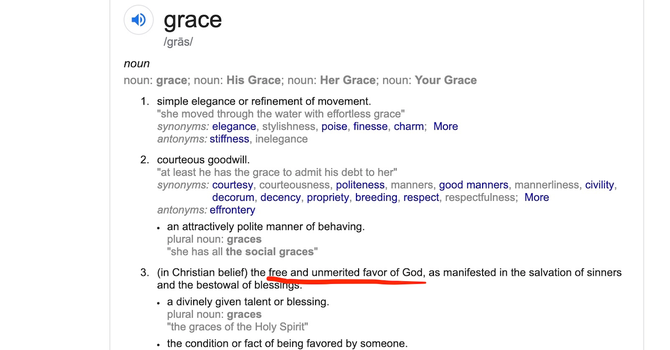 Unpacking Sunday's Sermon: Living in Unmerited Grace image