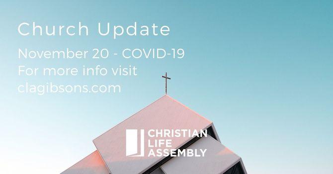 Church Update - November 20 image