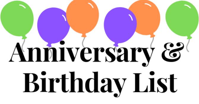 Anniversary & Birthday List image