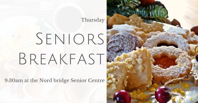 Senior's Breakfast. March 19 Has been CANCELLED.