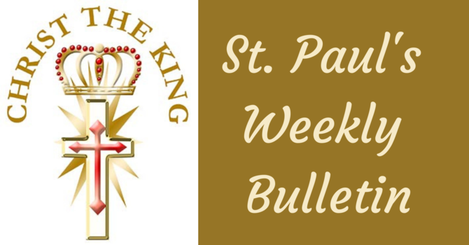 St Paul's November 22nd News Bulletin image