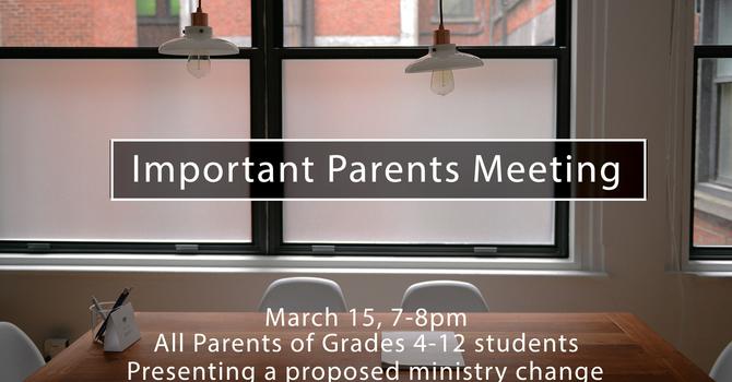 Parents Meeting image
