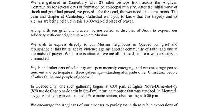 Quebec City Mosque Attack