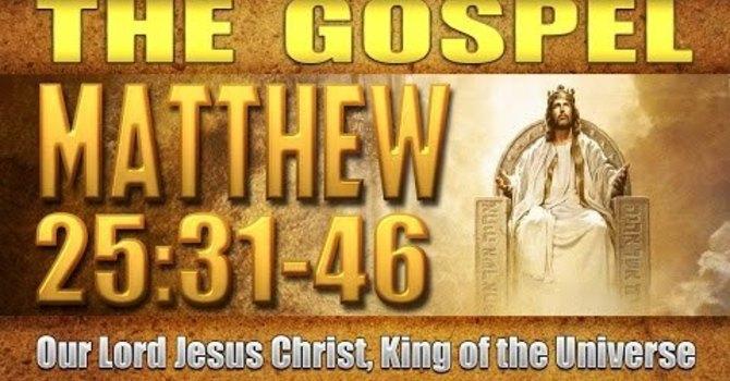 The Gospel of Matthew 25:31-46 image