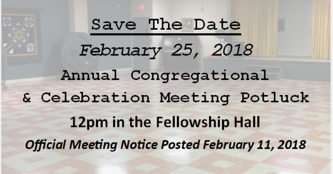 Official Notice of Congregational & Celebration Meeting  image