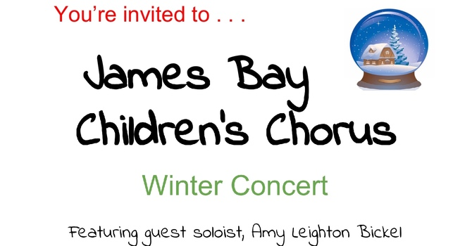 James Bay Children's Chorus Winter Concert. Nov. 29 image