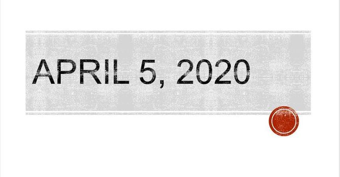 April 5 2020
