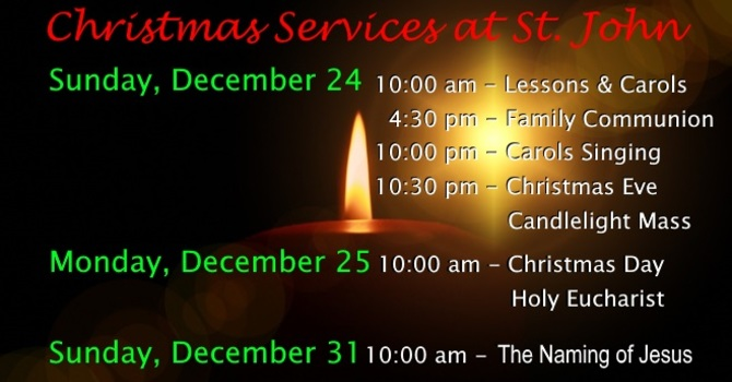 Advent & Christmas Worship Services