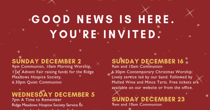 Good News is Here - You're Invited