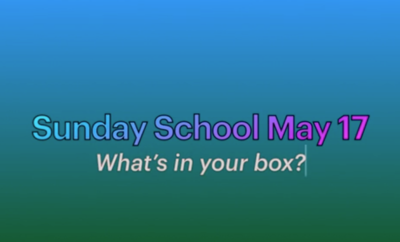 Sunday School Easter 6 May 17