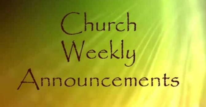 Weekly Announcements for Sunday, March 4 image