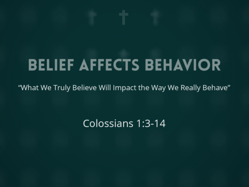 Belief Affects Behavior