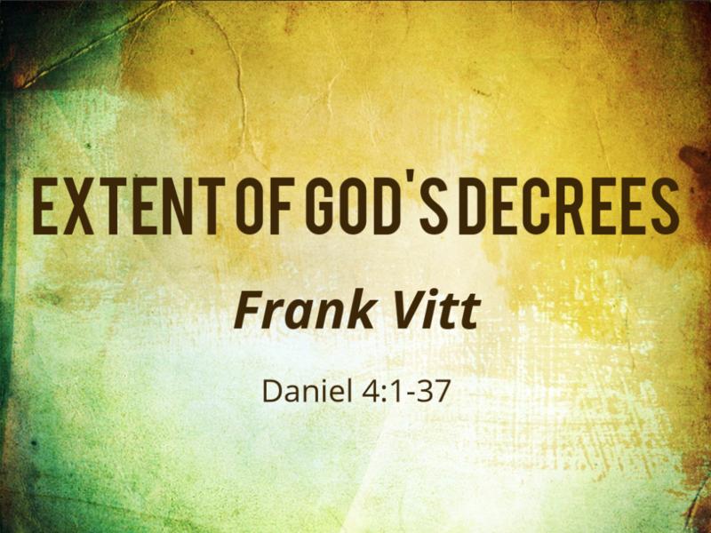 Extent of God's Decree