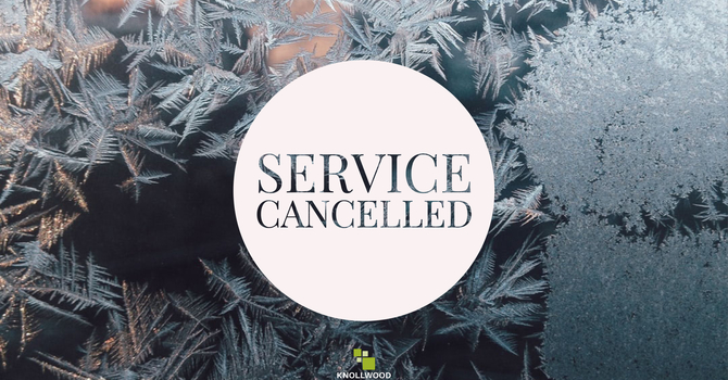 Service CANCELLED December 1 image