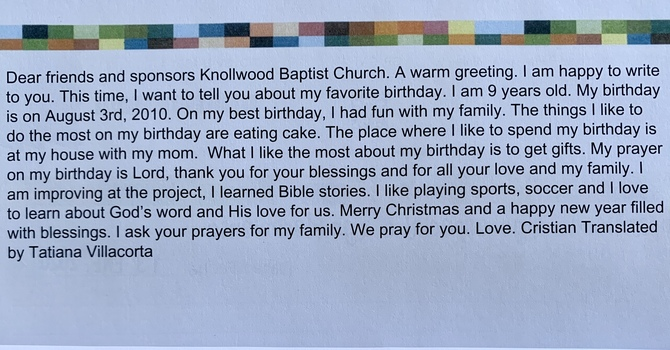 Compassion Child Letter image