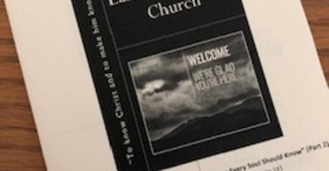 July 28, 2019 Church Bulletin image