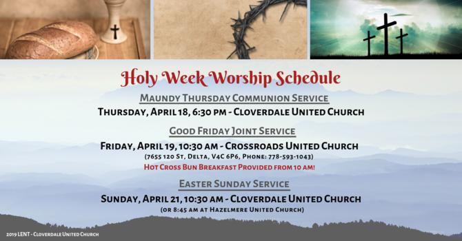 2019 Holy Week Worship Schedule image