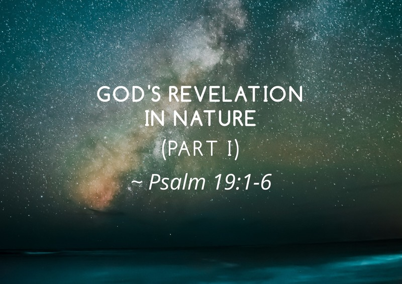 God's Revelation in Nature