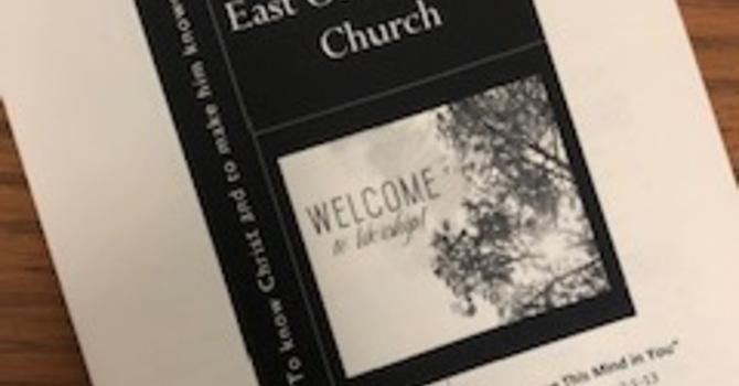 July 21, 2019 Church Bulletin image