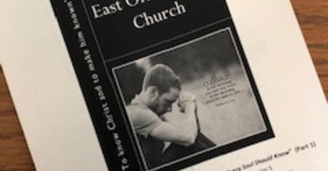 July 14, 2019 Church Bulletin image